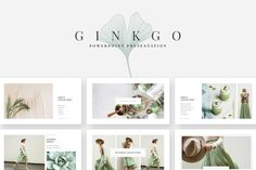Ad: Ginkgo PowerPoint Presentation by Studio Sumac on This product is part of the Ginkgo Complete Pack: --- A minimal and versatile presentation template. Ginkgo design line features a soft, Interior Design Presentation, Presentation Layout, Magnolia Design, Business Presentation Templates, Instagram Post Template, Creative Business, Keynote, Puzzle, Posts