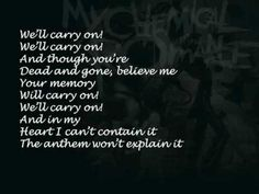 Welcome To The Black Parade Lyrics My Chemical Romance