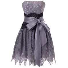 Lacemarry Charcoal Grey Lace Short Prom Dress/ Bridesmaid Dress at Amazon Women's Clothing store: