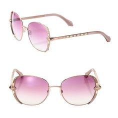 4a409e0be02f Roberto Cavalli 56Mm Metal   Crystal Sunglasses ( 379) ❤ liked on Polyvore  featuring accessories