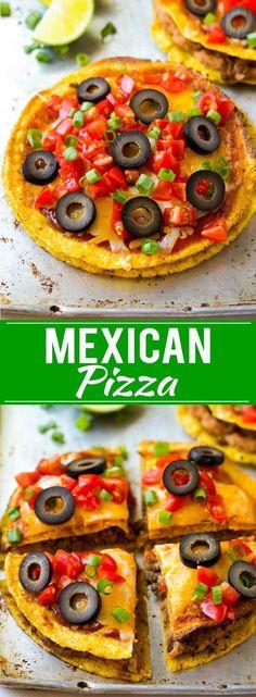 Mexican Pizza Recipe   Tostada Recipe   Taco Bell Copycat Recipe   Easy Mexican Food