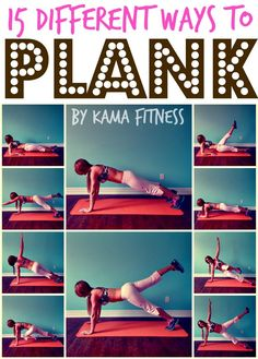 15 Different Ways to Plank. Planks strengthen your core as well as your shoulders, back, arms, legs, and glutes. Got a question about your workouts or nutrition? Ask me, Chris Diet Coach at https://www.facebook.com/ChrisDietCoach