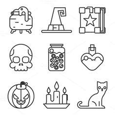 halloween icons. Helloween. $4.00