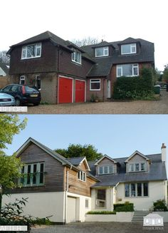 Exterior remodelling scheme by Back to Front Exterior Design – Home Renovation House Cladding, Facade House, Wood Cladding Exterior, Exterior Shutters, Exterior Signage, Exterior Paint, Home Exterior Makeover, Exterior Remodel, Home Upgrades