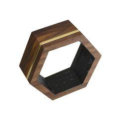 Wood and Brass Bangle II \ Emma Holland Denvir