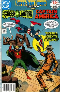 """Super-Team Family: The Lost Issues!: Green Lantern and Captain America in """"Picking a Bone with Al Capone"""""""