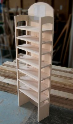 Folding Display Shelves | ... Custom Modern Furniture - Custom Retail Display Shelving Collapsible 1