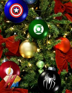 More superhero ornaments!
