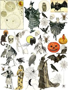 This item is available in holiday : halloween. Halloween Clipart, Halloween Cat, Vintage Halloween, Halloween Witches, Happy Halloween, Arte Fashion, Scrapbook Images, Spooky Tattoos, Halloween Scrapbook