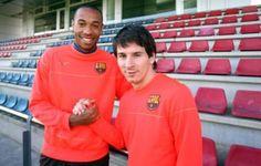 """Messi: """"A Henry no me atrevía a mirarle a la cara"""""""