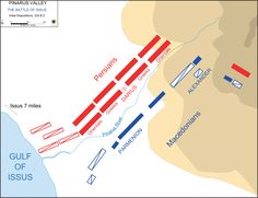 Battle of Issus initial deployment - History of Macedonia, the ancient kingdom of Greece