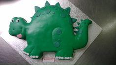Tarta de dinosaurio fondant