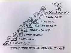 sometimes it's too big a step to get from I can't do it to I did it. smaller steps.