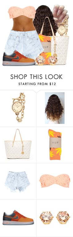 """""""Oh Doll"""" by dajvuuloaf ❤ liked on Polyvore featuring Brooks Brothers, Michael Kors, HUF, Levi's, River Island and NIKE"""
