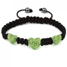Swarovski Crystal Shamballa ball beads 3pcs Green ($9.99)