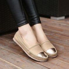 Gold toed moccasins // #flats #shoeporn #footwear