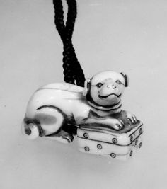 Netsuke of Pug Dog