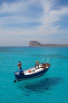 Balos lagoon in Chania, Crete