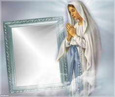 holy mary kimi from imikimi.com. Click to add your own photo to this frame.  #Mary #Catholic #prayer