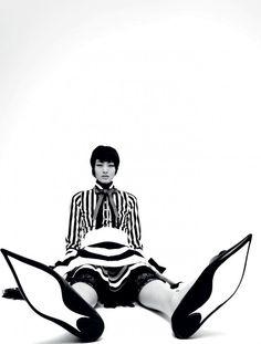 Chiharu Okunugiby Mel Bles forPop Magazine, Spring/Summer 2013