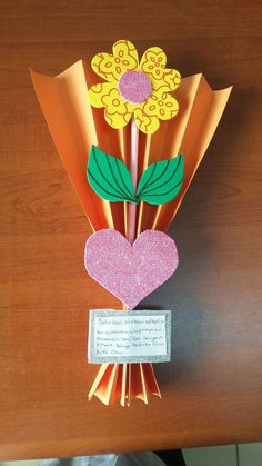 , - Easy Crafts for All Kids Crafts, Mothers Day Crafts For Kids, Mothers Day Cards, Diy Arts And Crafts, Toddler Crafts, Preschool Crafts, Paper Crafts, Teachers Day Gifts, Mother's Day Projects