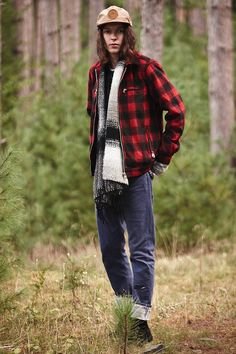 Kill City Buffalo Plaid Trucker Jacket