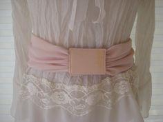 Pink sash belt, wide waist belt, 70s pink chiffon fabric belt, small to medium by EndlesslyVintage on Etsy https://www.etsy.com/listing/229155534/pink-sash-belt-wide-waist-belt-70s-pink