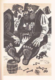 """Soviet illustrations of """"The Hobbit""""."""