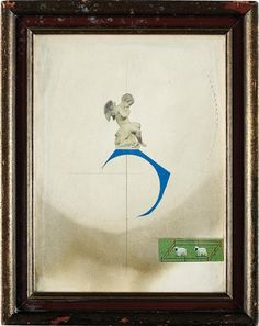 Artwork by Joseph Cornell, Indirect Incognito, Made of Collage in colors with hand-abrasions, on wove paper