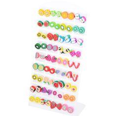 Cheap earrings for women, Buy Quality shaped earrings directly from China earrings for Suppliers: Fruit Shape Earrings For Women Mixed Color One Size Diy Earrings Studs, Girls Earrings, Women's Earrings, Stud Earring, Kids Jewelry, Cute Jewelry, Jewelry Gifts, Jewellery, Baby Doll Accessories