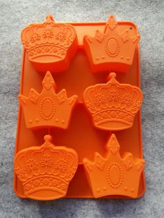 New Crown Cake Mold Soap Mold Silicone Mould Cupcake Ice Cube Soap Molds, Silicone Molds, Resin Molds, Crown Cake, Cupcake Mold, Baking Accessories, Fondant Molds, Chocolate Molds, Chocolate Cake