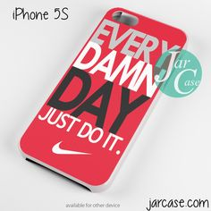 nike every damn day red Phone case for iPhone 4/4s/5/5c/5s/6/6 plus