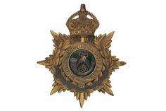 Badge. The King's (Shropshire Light Infantry) Edwardian Officer's helmet plate circa 1902-04. A g
