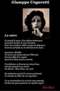La Pensée Du Jour: LA MÈRE (Giuseppe Ungaretti)