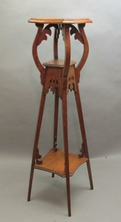 "Quite lovely potential Bose stand Fine  Rare Antique 44"" Art Nouveau Plant Stand Pedestal c. 1900 table"