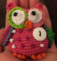 Pink owl keychain by storerboughtcreations