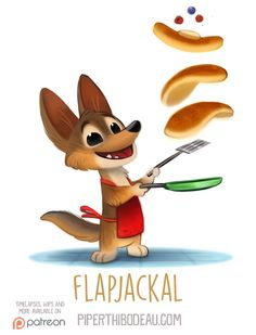 Daily+Paint+1544.+Flapjackal+by+Cryptid-Creations.deviantart.com+on+@DeviantArt