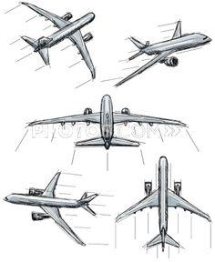 Airplane Sketch Illustration Google Search Skin Decor Airplane