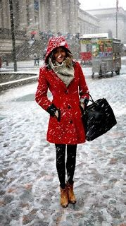 Lovely Red Coat For Winter