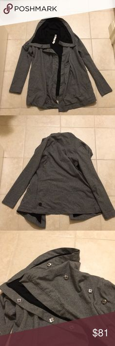 Lululemon grey cardigan In new condition. 92% cotton, 8% spandex lululemon athletica Sweaters Cardigans