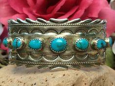 Navajo, Unique Vintage, Native American, Ethnic, Turquoise, Jewellery, Bracelet, Ebay, Jewels
