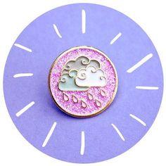 "139 Likes, 2 Comments - bbllowwnn.com (@bbllowwnn) on Instagram: ""#Repost @clortycatcrafts ・・・ Prince-inspired Purple Rain pins!  Featuring glitter & gold-plating ✨…"""