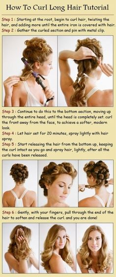 Diy Projects: How to curl long hair