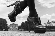 The new Louis Vuitton Shoe Collection walking the emblematic streets of Paris.