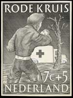 Ontwerp voor postzegels Nederland 1953 Rode...