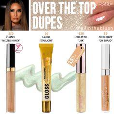 Dose of Colors Over the Top Lip Gloss Dupes - All In The Blush Makeup Guide, Makeup Tools, Makeup Brushes, Drugstore Makeup, Lip Makeup, Beauty Makeup, Kawaii Makeup, Sephora Makeup, Makeup Cosmetics