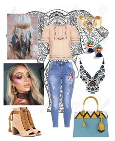 """Indian🐘🐘"" by dolcejaquelin on Polyvore featuring Rebecca Taylor, Chloé, Prada, Ayala Bar, J.Crew and NOVICA"
