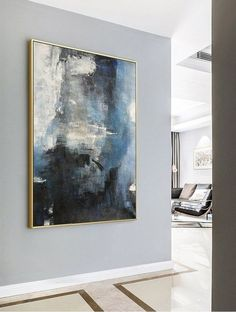 Large abstract sea, original abstract art painting, large wall canvas painting, abstract sky, living roo – Merys Stores - Sites new Blue Abstract Painting, Abstract Canvas, Oil Painting On Canvas, Painting Art, Art Paintings, Photo To Painting, Pour Painting, Painting Lessons, Indian Paintings