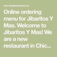 Online ordering menu for Jibaritos Y Mas. Welcome to Jibaritos Y Mas! We are a new restaurant in Chicago serving authentic Puerto Rican food. Come and visit us! Our menu brings the taste of Puerto Rico to your home. We have authentic dishes as Carne Frita Encebollada, Chuletas en Salsa, Camaron Jibarito and so much more. We are located on W.Fullerton Ave. across the street from Walgreens and Black Oak Tattoo. You can order take out or delivery so order now! Canada Destinations, The Second City, Puerto Rican Recipes, Chicago Restaurants, Puerto Ricans, Road Trips, Travel Usa, Salsa, Delivery