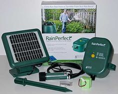 RainPerfect solar powered rain barrel pump: what's in the box
